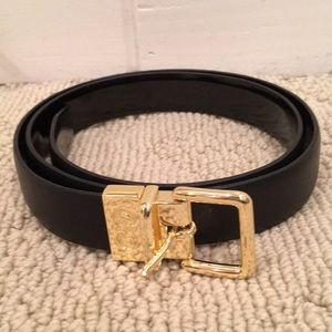 Cole Haan Black Leather Belt